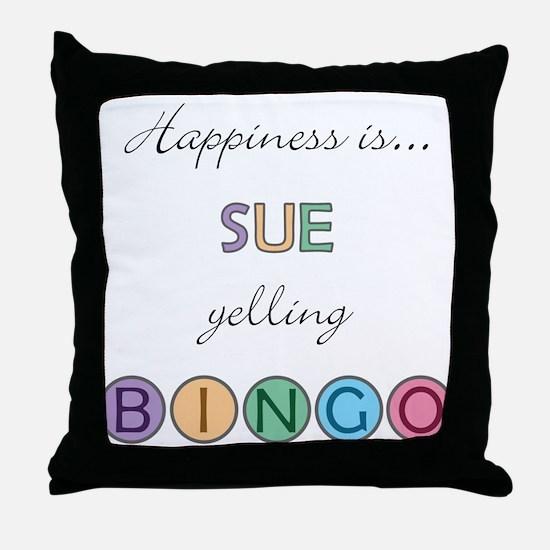 Sue BINGO Throw Pillow