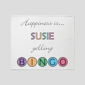 Susie BINGO Throw Blanket