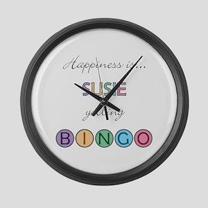 Susie BINGO Large Wall Clock