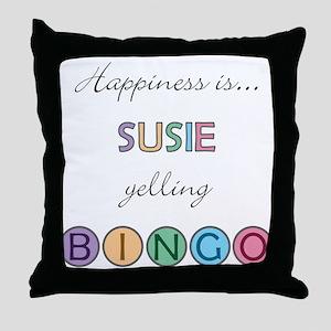 Susie BINGO Throw Pillow