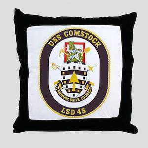 USS Comstock LSD 45 Throw Pillow