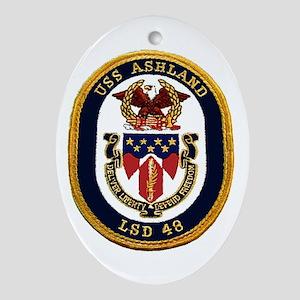 USS Ashland LSD 48 Oval Ornament