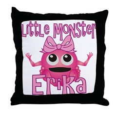 Little Monster Erika Throw Pillow