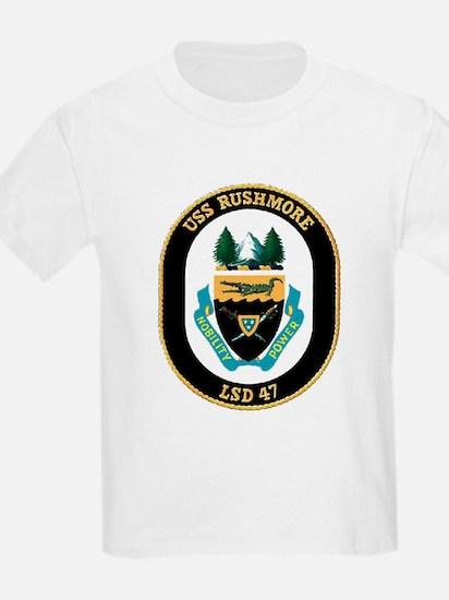USS Rushmore LSD 47 Kids T-Shirt