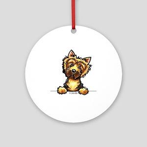 Norwich Terrier Line Art Ornament (Round)