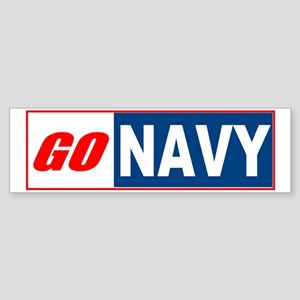 Go Navy Bumper Sticker
