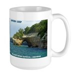 Pictured Rocks Lovers Leap Large Mugs