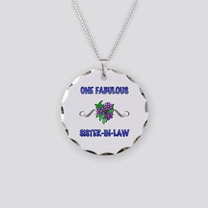 Fabulous Floral Sister-In-Law Necklace Circle Char