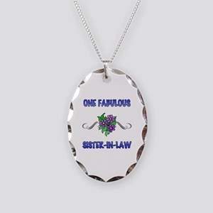 Fabulous Floral Sister-In-Law Necklace Oval Charm