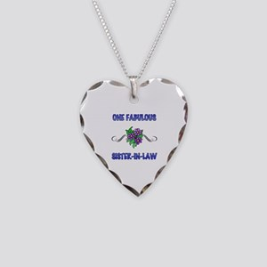 Fabulous Floral Sister-In-Law Necklace Heart Charm