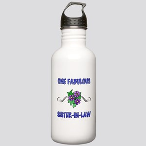 Fabulous Floral Sister-In-Law Stainless Water Bott