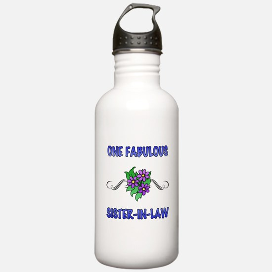 Fabulous Floral Sister-In-Law Water Bottle