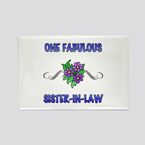 Fabulous Floral Sister-In-Law Rectangle Magnet