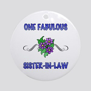 Fabulous Floral Sister-In-Law Ornament (Round)