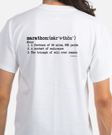 Marathon Definition White T-Shirt
