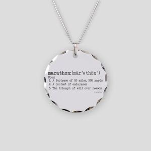 Marathon Definition Necklace Circle Charm