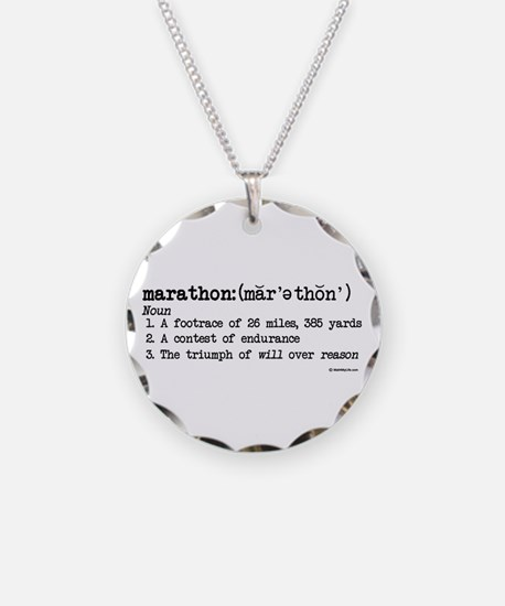 Marathon Definition Necklace