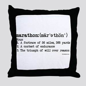 Marathon Definition Throw Pillow