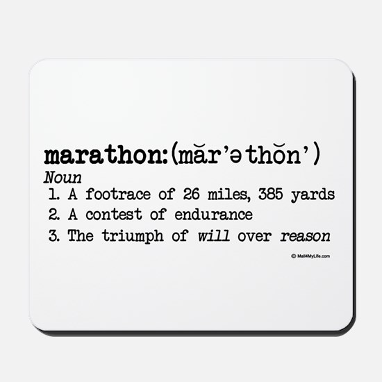 Marathon Definition Mousepad