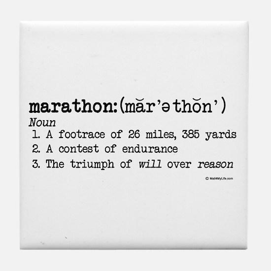 Marathon Definition Tile Coaster