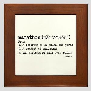 Marathon Definition Framed Tile