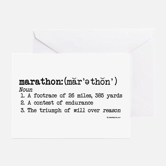 Marathon Definition Greeting Cards (Pk of 10)