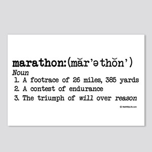 Marathon Definition Postcards (Package of 8)