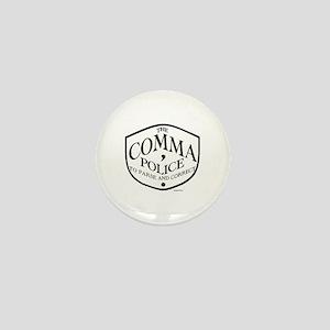 Comma Police Mini Button