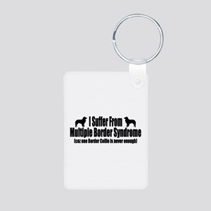 Border Collie Aluminum Photo Keychain