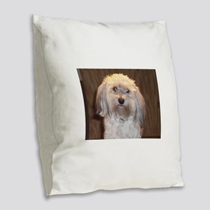 havanese Burlap Throw Pillow