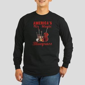Bluegrass Music Long Sleeve Dark T-Shirt