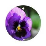 Purple Pansy Ornament (Round)