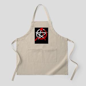 Hammer and Sickle Pentagram - Red Light Apron