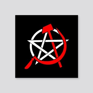 Hammer and Sickle Pentagram - Red Sticker