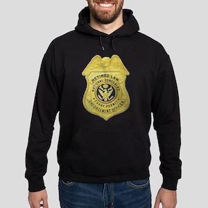 Retired Law Enforcement Hoodie (dark)