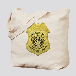 Retired Law Enforcement Tote Bag