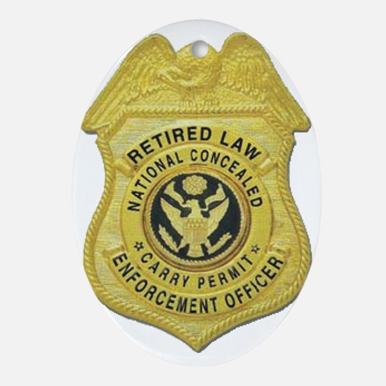 Retired Law Enforcement Ornament (Oval)