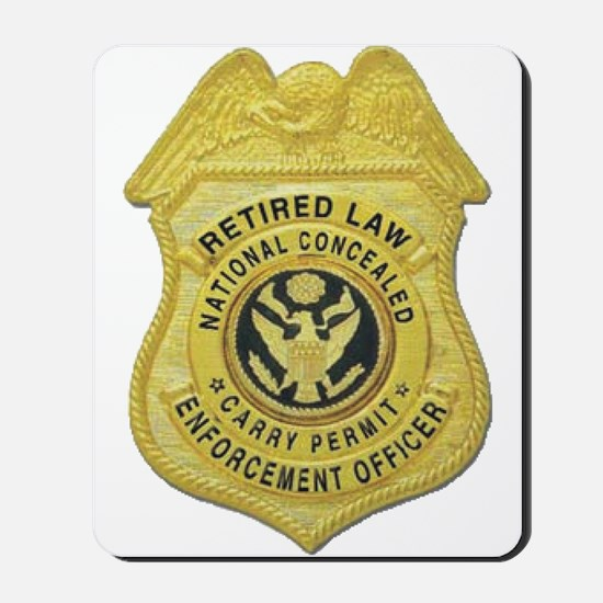 Retired Law Enforcement Mousepad