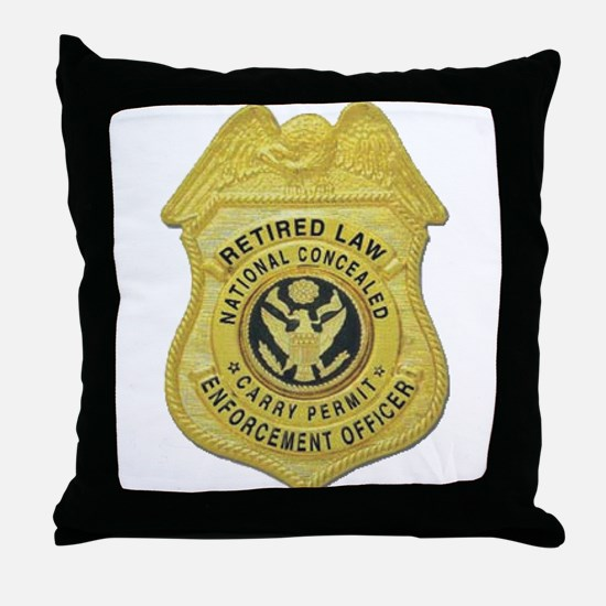 Retired Law Enforcement Throw Pillow