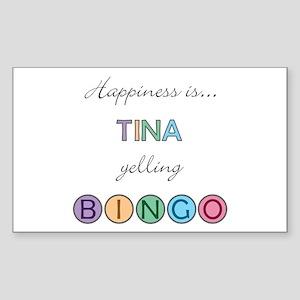 Tina BINGO Rectangle Sticker