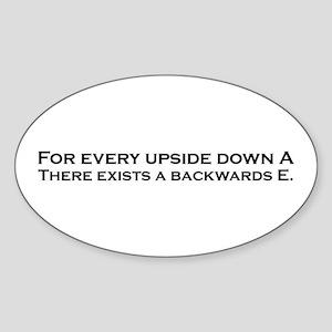 Funny Mathematics Theorm Sticker (Oval)