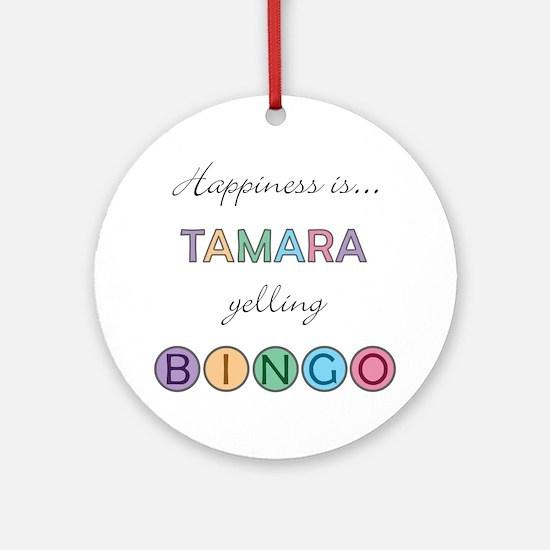 Tamara BINGO Round Ornament