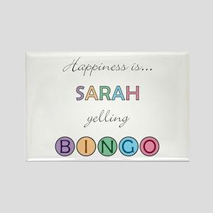 Sarah BINGO Rectangle Magnet
