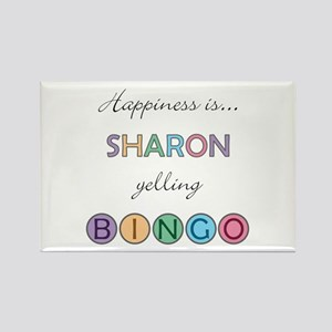 Sharon BINGO Rectangle Magnet