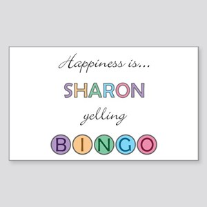 Sharon BINGO Rectangle Sticker