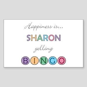 Sharon BINGO Rectangle Sticker