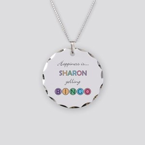 Sharon BINGO Necklace Circle Charm