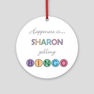 Sharon BINGO Round Ornament