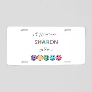Sharon BINGO Aluminum License Plate