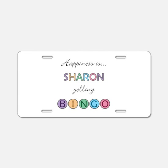 Sharon BINGO Aluminum License Plate